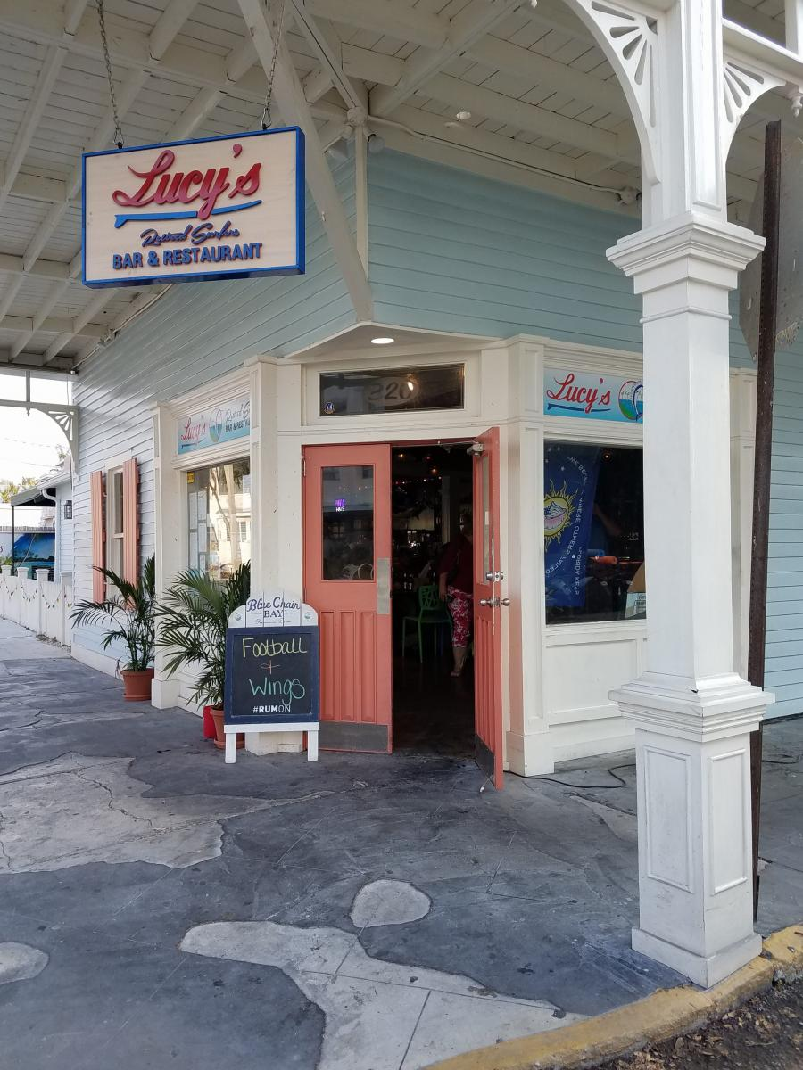 Lucy's Retired Surfers Bar and Grill - last place we ate before we evacuated, first place we ate when we came back