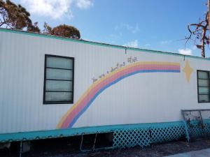 Big Pine Academy rainbow sign