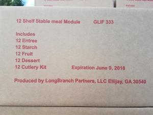 FEMA food box content list