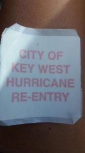 Key West Re-entry Sticker