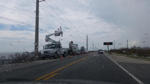 Line crews bringing back the power