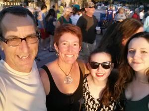Maddie, Brenna, Fran and me selfie in Key West