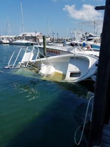 Sunken boat in KWBM