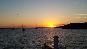 Sunset over Atlantis, from Rose Island