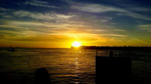 Sunset over Sunset Key from Mallory Square