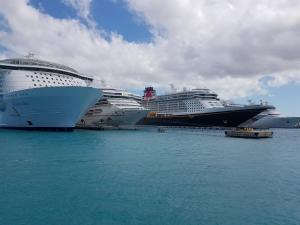 Arriving in Nassau Harbour