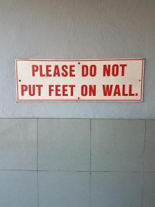 A sign outside a bank