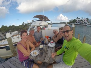 Christmas-breakfast-on-the-dock-at-Lighthouse-Marina-2