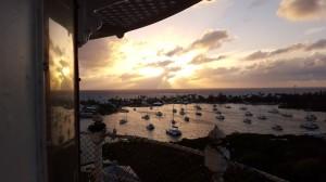 Hopetown-Harbor-from-the-lighthouse-near-sunset