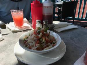 Conch salad at Fish Fry