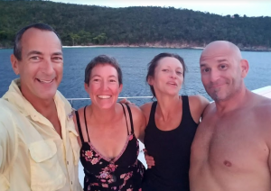 50 With Warren and Deanna, Caneel Bay, St. John, USVI