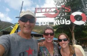 26 With Molly at Foxy's, Jost Van Dyke, BVI
