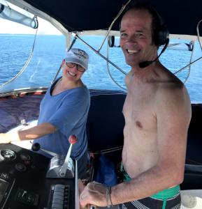 02 Steve and Challen on the flybridge